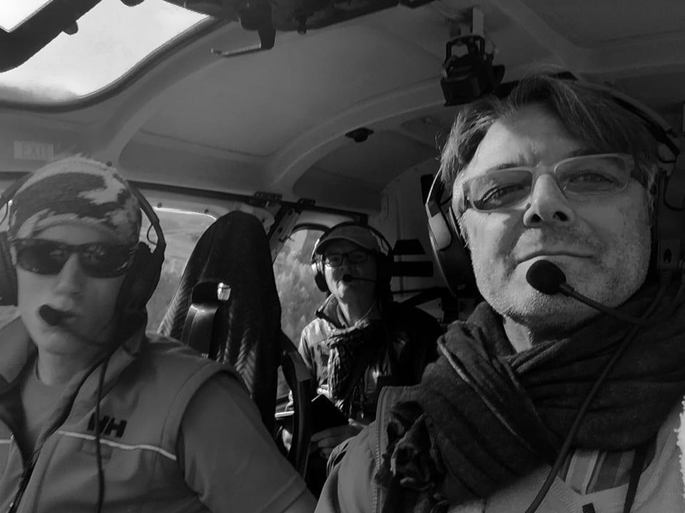 Daniel Ladner + Juan Rodríguez flying to Monte Rosa advvt's studio